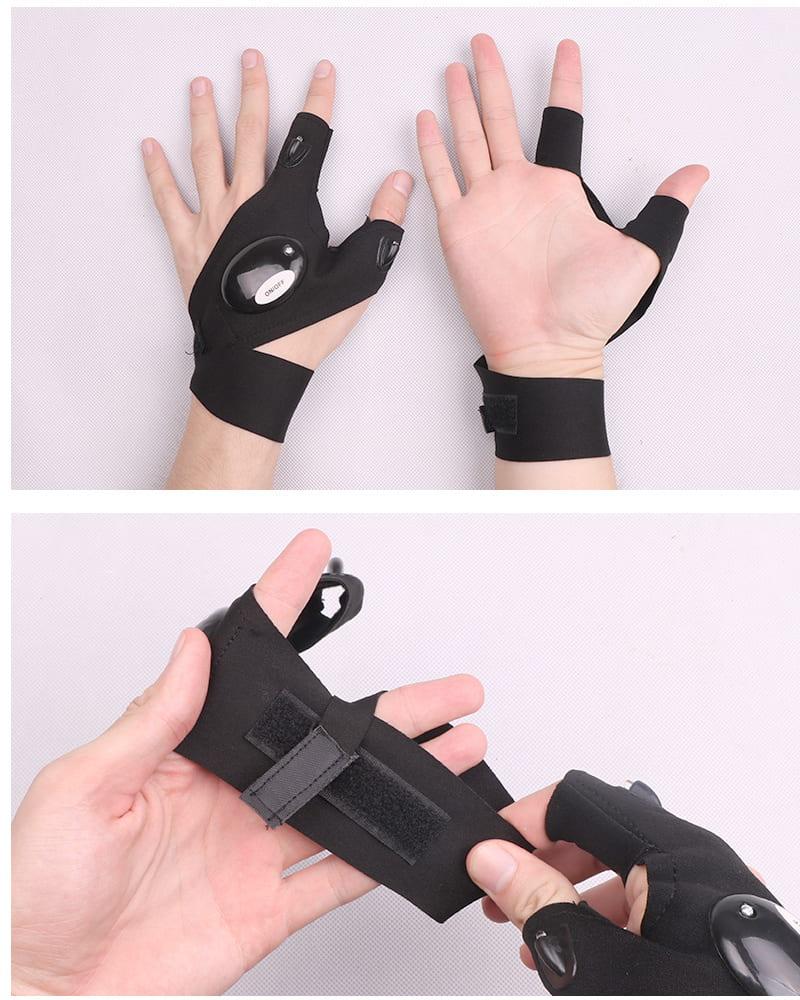 Waterproof LED Light Work Gloves