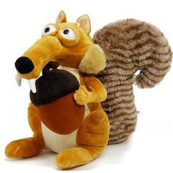 Squirrel Animal Figure Plush Scrat Stuffed Toy